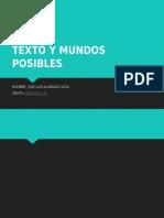 Texto y Mundos Posibles