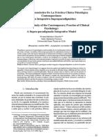 Estudio Hermenéutico de La Práctica Clínica de Psicología - Paper