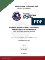 Noel Maria Ingenieria Inversa Evaluacion Sismica Construcciones Adobe