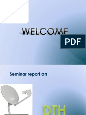 PPT ON DTH | Satellite Television | Set Top Box