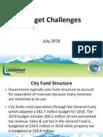 Longmont Budget Challenges Presentation