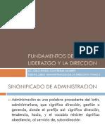 Fundamentos Del Liderazgo y La Direccion