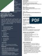 CV-Nur Aina Aliya Mohamad Salleh