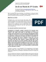 Alexander Backman - Iniciacion De Un Mason Grado 33.pdf