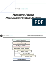 4 Measure - Measurement System Analysis