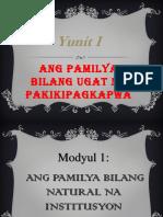 Module 1 - Ang Pamilya Bilang Natural Na Institusyon