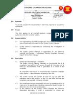 SOP of Customer Complaint.doc