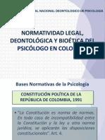 Presentacion Normatividad Legal Deontologica y Bioetica-manual-Deontologico