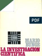 La Investigación Cientifica Mario Bunge