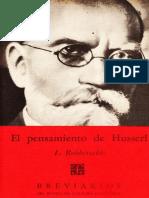 El Pensamiento de Husserl - Brevarios
