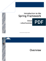 Introduction to Spring Framework (Presentation - 143 Slides)