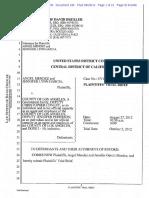 Plaintiffs closing brief for  Angel Mendez, et al., vs. County of Los Angeles