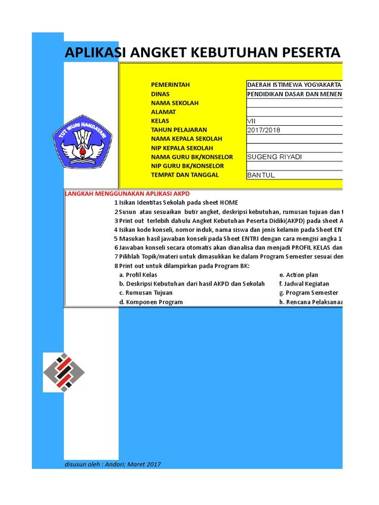 Contoh Aplikasi Akpd Bk Smp Mts
