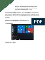 Windows Firefall adalah perangkat lunak yang terdapat pada semua versi Windows.docx