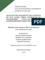 Geologia Del Basamento de La Region de Los Lagos Chile