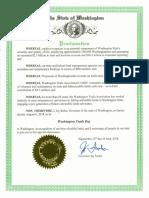 Washington Trails Day Proclamation 2018