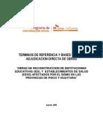 Tdr Obras Grupo 11 Adjudicacion Directa