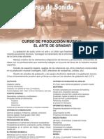 CURSO DE PRODUCCIÓN MUSICAL (EL ARTE DE GRABAR)