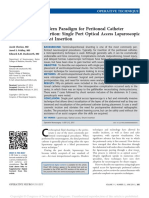 Modern Paradigm for Peritoneal Catheter Insertion .1
