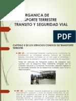 Ley Organica de Transporte Terrestre Transito y Seguridad