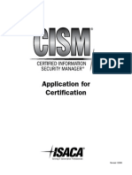2010 CISM Application