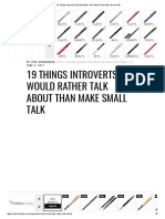 19 Things Introverts Would Rather Talk About Than Make Small Talk