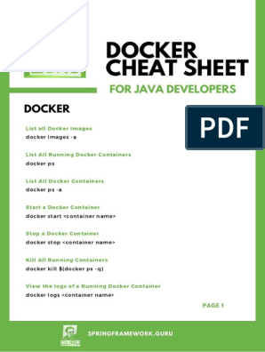 DockerCheatSheet pdf | Command Line Interface | Parameter