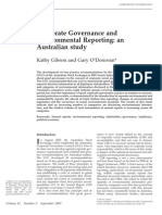 Corporate Governance and Environmental Reporting; An Australian Study