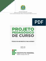 Projeto Pedagogico Do Curso Tecnico Em Informatica Para Internet Navirai