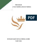 Program Kerja Kesehatan Dan Keselamatan Kerja (k3)