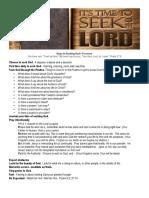 Steps to Seeking Gods Presence