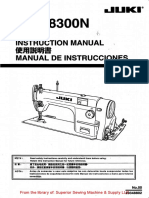 Juki DDL-8300N Instruction Manual