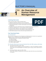 HRM Instructor's Manual - Chapter 1