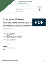 Printing Knapsack