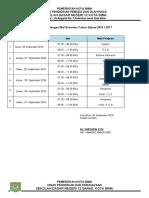 Jadwal Semester 2 2018