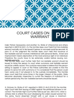 Court Cases on Warrant
