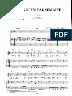 3 Nuits Par Semaine Score Dm 1