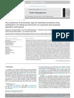 Waste Management Volume Issue 2017 [Doi 10.1016_j.wasman.2017.05.017] Hafid, Halimatun Saadiah; Nor 'Aini, Abdul Rahman; Mokhtar, Mohd -- Over Production of Fermentable Sugar for Bioethanol Producti