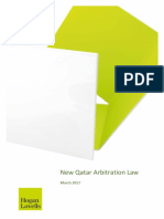 New Qatar Arbitration Law