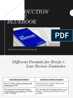 Introduction to the BlueBook