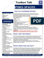 Confined Spaces Toolbox Talk