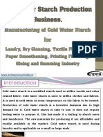 Cold Water Starch Production Business