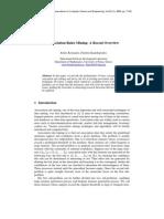 Association Rules Mining - A Recent Overview