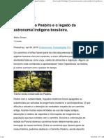 (Web) Ciência e Astronomia. Caminhos Do Peabiru e o Legado Da Astronomia Indígena Brasileira