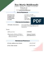 Curriculum Angelica Maria Maldonado