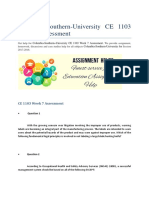 Columbia-Southern-University CE 1103 Week 7 Assessment