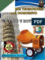 INFORME TECNOLOGIA DEL CONCRETO VACIADO Y ROTURA