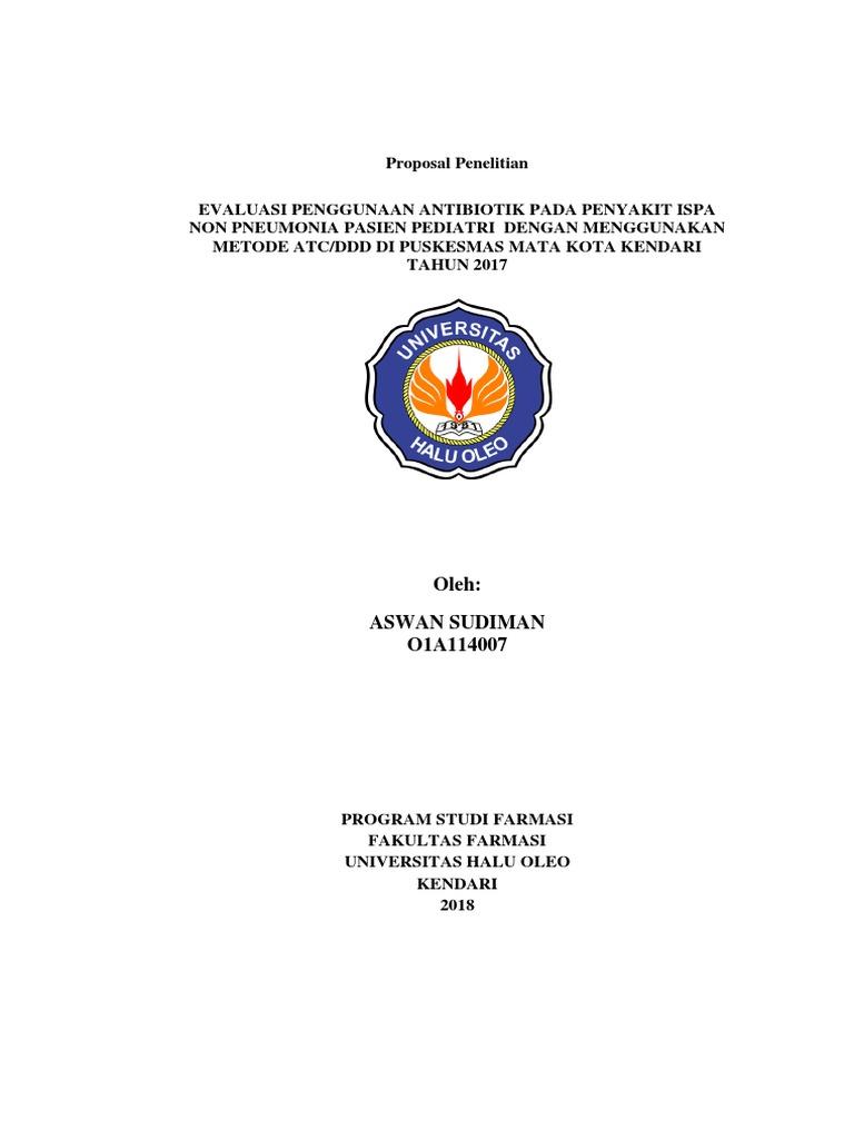 Proposal Penelitian Farmasi Klinik Ilmusosial Id
