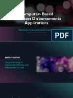 Computer- Based Purchases Disbursements Applications