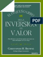 33980 Pequeno Libro Inversion Valor